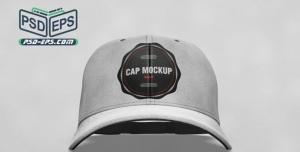 موکاپ لایه باز کلاه لبه دار با زاویه دید مقابل یا موکاپ کلاه اسپرت