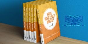 PSD12 1 300x152 - لایه باز موکاپ کتاب های چیده شده مانند داخل قفسه کتابخانه با امکان موکاپ عطف و جلد روی کتاب