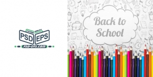 PSD16 01 300x152 - تراکت لایه باز یا پوستر بازگشت به مدرسه و جشنواره فروش لوازم و التحریر یا نوشت افزار