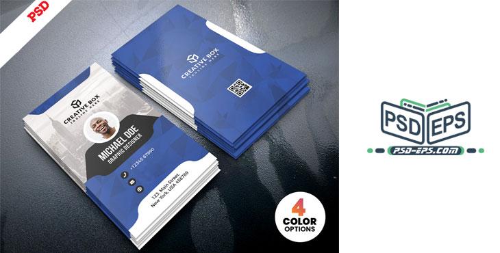 PSD19 2 - لایه باز کارت ویزیت حرفه ای شخصی، تجاری، بازرگانی و شرکتی بسیار زیبا