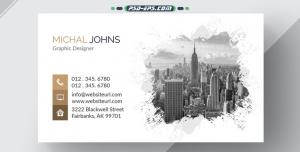 لایه باز کارت ویزیت شهرسازی و ساختمانی بسیار زیبا و خلاقانه
