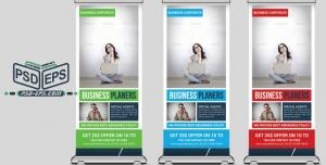p715 1 300x152 - استند بنر لایه باز تجاری بصورت طرح آماده رول آپ بنر با طراحی شرکتی در سه رنگ زیبا