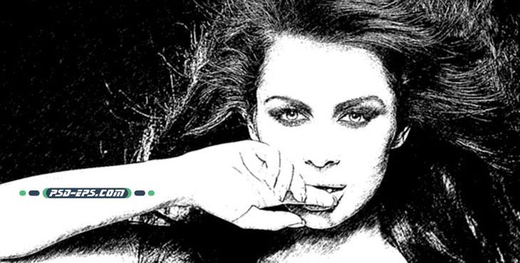 اکشن اسکچینگ تبدیل عکس به طراحی با مداد یا سیاه قلم و طراحی با افکت فتوشاپ
