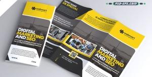 لایه باز بروشور ساختمانی شهرسازی مهندسی خدمات آموزشی طراحی و نظارت عمران سازه