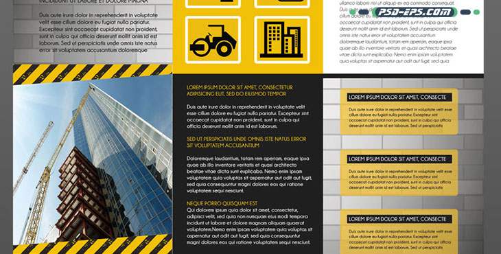 لایه باز بروشور ساختمانی تاسیساتی مکانیک ساخت و ساز ابنیه