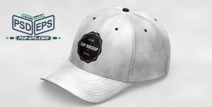 موکاپ کلاه لبه دار یا آفتابی پلنگی نظامی و ارتشی لایه باز با زاویه دید از کنار - بغل یا موکاپ کلاه اسپرت لبه دار
