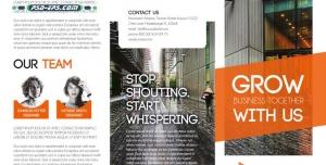 P745 1 300x152 - طرح خلاقانه لایه باز طرح آماده بروشور سه لت حرفه ای ویژه شرکت های بازاریابی و مشاوره مارکتینگ دیجیتال پیشرفته