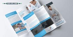 بروشور سه لت لایه باز رسمی شرکتی ویژه مراکز تجاری رفاهی معرفی خدمات آموزشی
