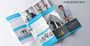 p730 2 300x152 - بروشور سه لت لایه باز اداری، شرکتی و تجاری بازرگانی بسیار شیک و ساده