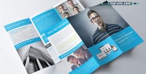 لایه باز بروشور سه لت تبلیغاتی و تجاری ارائه خدمات و محصولات شرکتی و رزومه شخصی