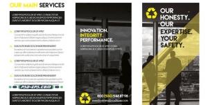 بروشور کاتالوگ لایه باز شرکتی تجاری بازرگانی ویژه معرفی کسب و کار و تجارت بسیار حرفه ای و شیک با معرفی خدمات