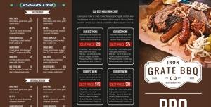 کاتالوگ بروشور رستوران غذای گرم آشپزخانه منوی غذا کترینگ بصورت کاملا لایه باز