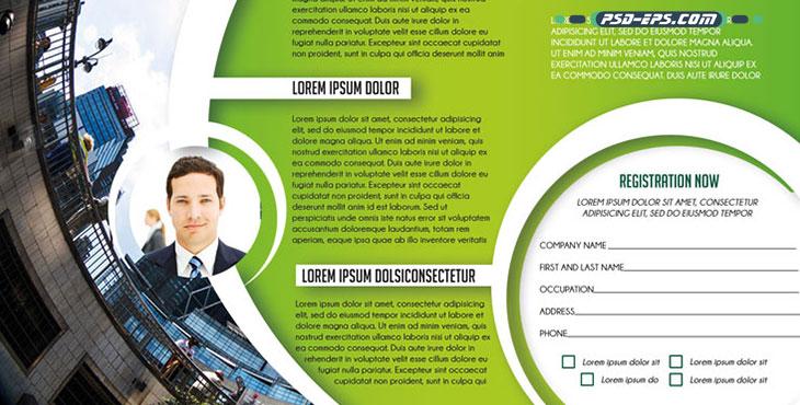 بروشور سه لت لایه باز شرکتی تجاری بازرگانی زیبا ویژه معرفی مراکز تجاری مانند کسب و کار های بیمه و دیگر بیزینس های بازاریابی