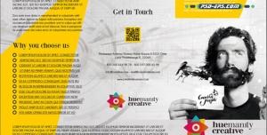 بروشور خلاقانه لایه باز سه لت ویژه معرفی خدمات مارکتینگ هوشمند یا خدمات رایانه ای وب مسترینگ اینترنت طراحی صفحات وب