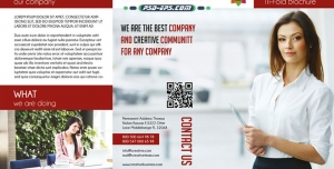 کاتالوگ لایه باز بروشور سه لت شرکتی خدمات روابط عمومی ارتباطی فعالان اقتصادی حوزه های کسب و کار مشاوره ای تجارت و بازاریابی