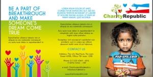 بروشور لایه باز کودکان سرطانی و نیازمند به حمایت درمان یا خیریه کودکان و حمایت از بچه یتیم های بی سرپرست فقیر