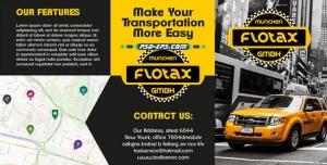 لایه باز خدمات تاکسی رانی و آژانس های مسافربری شهری یا بروشور کاتالوگ اپلیکیشن های حمل و نقل درون شهری با نقشه شهر