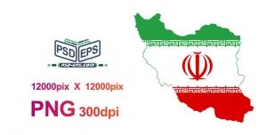 نمایش پرچم ایران به شکل نقشه ایران با مرز ها و نقشه ایران با کیفیت فوق العاده بالا بصورت png ویژه تبلیغات انتخاباتی