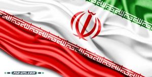 دانلود عکس پرچم ایران در گوشه کادر و پهن شده روی زمین با چروک های چشم نواز زیبا ویژه تبلیغات انتخابات با کیفیت بالا