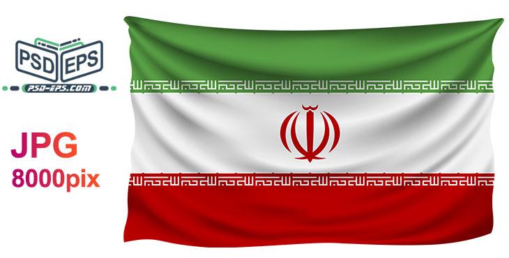 tarh 021 1 - دانلود عکس پرچم ایران بصورت پهن و جمع شده در گوشه کادر بسیار زیبا و قابل استفاده برای تبلیغات انتخابات با کیفیت بالا