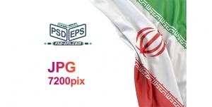 دانلود عکس پرچم ایران بصورت پهن و جمع شده در گوشه کادر بسیار زیبا و قابل استفاده برای تبلیغات انتخابات با کیفیت بالا