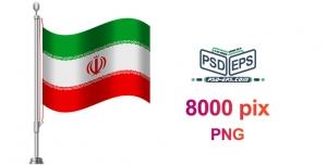 دانلود رایگان میله پرچم با پرچم ایران با کیفیت بالا ویژه طراحی گرافیک انتخابات و تبلیغات انتخاباتی + png