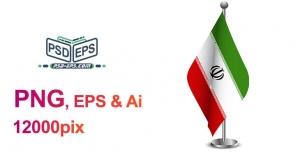 عکس وکتور پرچم ایران رومیزی بصورت لایه باز با کیفیت بالا ویژه امور تبلیغات انتخابات + eps & png