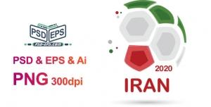 پرچم ایران به شکل توپ فوتبال ویژه آرم تورنمنت های ورزشی یا مسابقات ملی فوتبال یا فوتسال جام رمضان