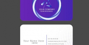 Bissiness Card 300x152 - لایه باز وکتور کارت ویزیت شرکتی بسیار شیک و زیبا با پس زمینه آبی سرمه ای بصورت دایره ای و دوار
