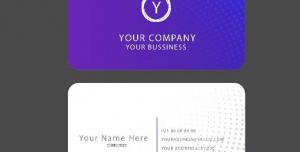 Bissiness Card1 300x152 - وکتور طرح آماده لایه باز کارت ویزیت سرمه ای بسیار شیک شرکتی