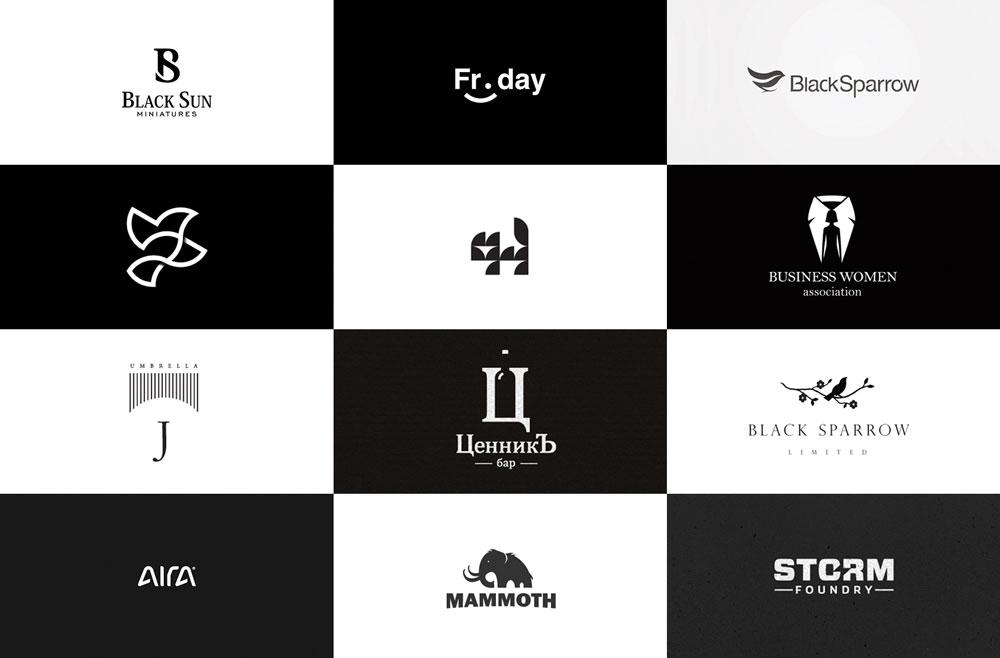 best black white logos - رنگ ها را بهتر بشناسیم / روانشناسی رنگ ها
