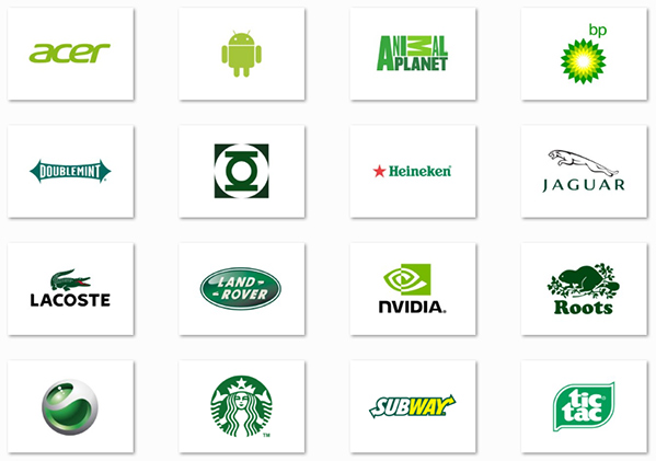 green logos - رنگ ها را بهتر بشناسیم / روانشناسی رنگ ها