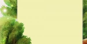 قاب یا فریم جنگل و حیوانات بصورت لایه باز طرح لوح تقدیر و نامه فانتزی