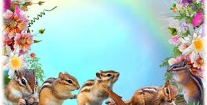 p27 300x152 - قاب و عکس و فریم کودکانه حاشیه گل با منظره و حیوانات با طرحی شاد بصورت لایه باز مناسب مهد کودک و پیش دبستانی و دبستان + PSD
