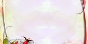 قاب گل زیبا بصورت لایه باز طرح لوح تقدیر و نامه عاشقانه و فانتزی با گل های قرمز + PSD