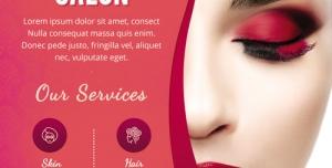 تراکت و پوستر لایه باز آرایشگاه زنانه یا لوازم آرایشی + PSD