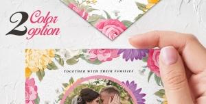 p37 300x152 - تراکت و پوستر لایه باز کارت دعوت عروسی در 2 رنگ + PSD