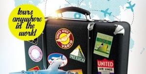 تراکت و پوستر لایه باز گردشگری و سفر دور دنیا + PSD