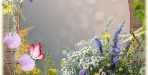 لایه باز قاب عکس زیبا با طرح گل های بهاری یا طرح لوح تقدیر و فریم عاشقانه و فانتزی + PSD
