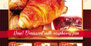تراکت و پوستر لایه باز نانوایی صنعتی و کیک پزی + PSD