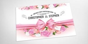 017 1 psd A5 CMYK 300dpi 300x152 - لایه باز کارت دعوت مهمانی پارتی تولد جشن عروسی بله برون حنابندان بهمراه طراحی فانتزی و شکیل گل های رز