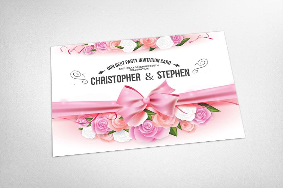 لایه باز کارت دعوت مهمانی پارتی تولد جشن عروسی بله برون حنابندان بهمراه طراحی فانتزی و شکیل گل های رز