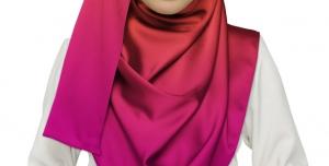 طرح لایه باز موکاپ مقنعه روسری شال مقنعه لبنانی پوشش اسلامی مقنعه اسلامی در رنگ های خاکستری لیمویی قرمز