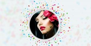 طرح لایه باز قاب عکس فریم و فون عکس نقاشی فانتزی با گل های رز قرمز قاب عکس عروس و داماد باتم آبی به همراه طراحی چهره