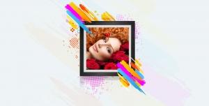 طرح لایه باز فریم و فون عکس قاب عکس نقاشی فانتزی با گل های رز قرمز قاب عکس عروس و داماد طراحی چهره طراحی قاب عکس