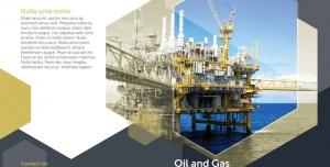 پوستر یا بروشور دو لت تبلیغاتی لایه باز جهت کارخانجات ، صنایع و شرکت های نفتی