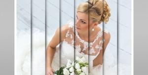111 1 psd A4 RGB 300dpi 300x152 - موکاپ لایه باز پوستر و عکس عروسی با برش های عمودی ساده و سایه دار