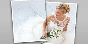 116 1 psd A4 RGB 300dpi 300x152 - موکاپ لایه باز عکس های عروسی و نامزدی با طرح کاغذ تاشده و دو قاب عمودی