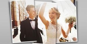 117 1 psd A4 RGB 300dpi 300x152 - موکاپ لایه باز عکس عروسی با سه قاب عمودی و قابلیت درج یک تصویر در طرح کاغذ تاشده