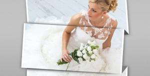 118 1 psd A4 RGB 300dpi 300x152 - موکاپ لایه باز عکس و پوستر عروسی با سه قاب افقی با امکان درج عکس در طرح کاغذ تاشده